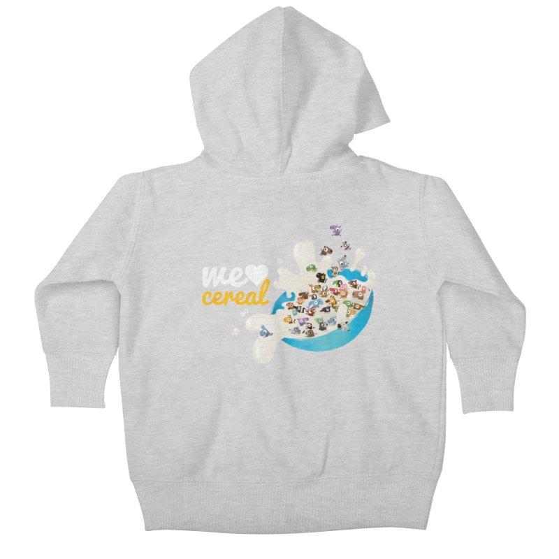 We/Me Love Cereal Kids Baby Zip-Up Hoody by aaronrandy's Artist Shop