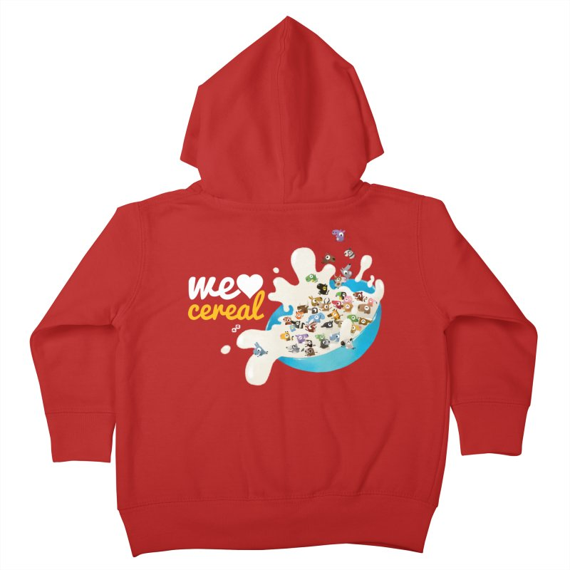We/Me Love Cereal Kids Toddler Zip-Up Hoody by aaronrandy's Artist Shop
