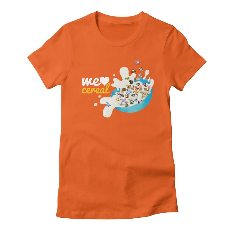 We/Me Love Cereal Women's Fitted T-Shirt by aaronrandy's Artist Shop
