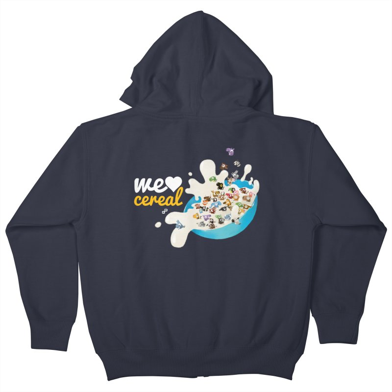 We/Me Love Cereal Kids Zip-Up Hoody by aaronrandy's Artist Shop