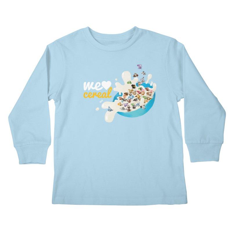 We/Me Love Cereal Kids Longsleeve T-Shirt by aaronrandy's Artist Shop