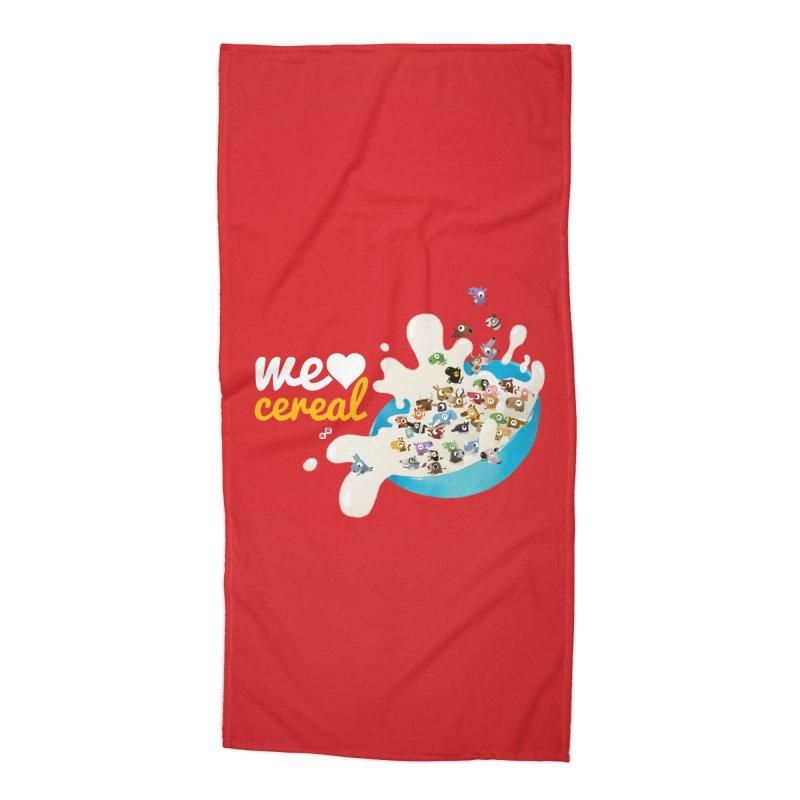 We/Me Love Cereal Accessories Beach Towel by aaronrandy's Artist Shop