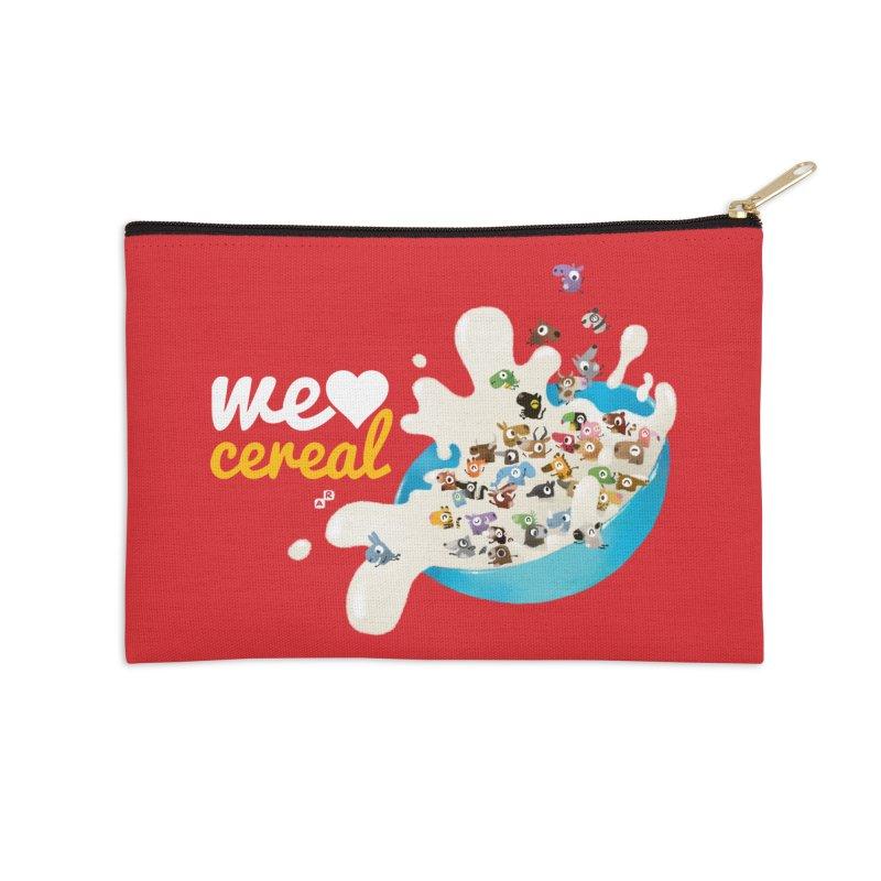We/Me Love Cereal Accessories Zip Pouch by aaronrandy's Artist Shop