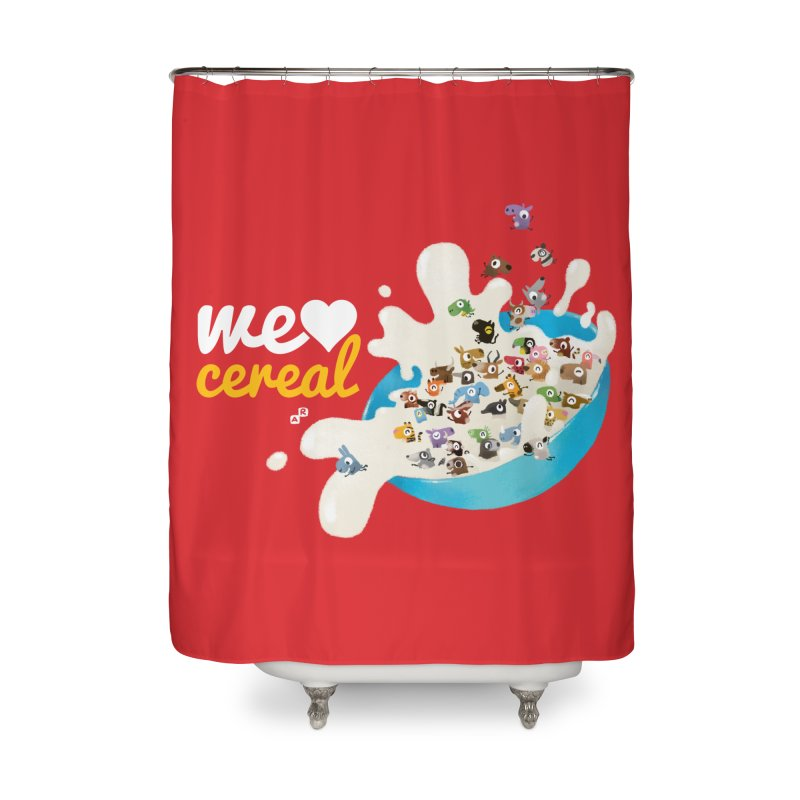 We/Me Love Cereal Home Shower Curtain by aaronrandy's Artist Shop