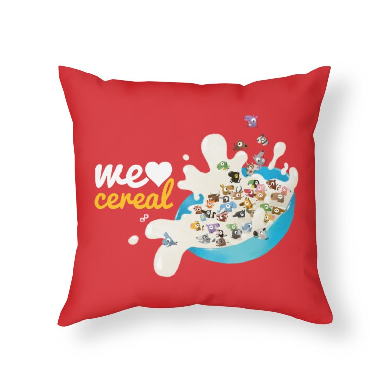 We/Me Love Cereal Home Throw Pillow by aaronrandy's Artist Shop