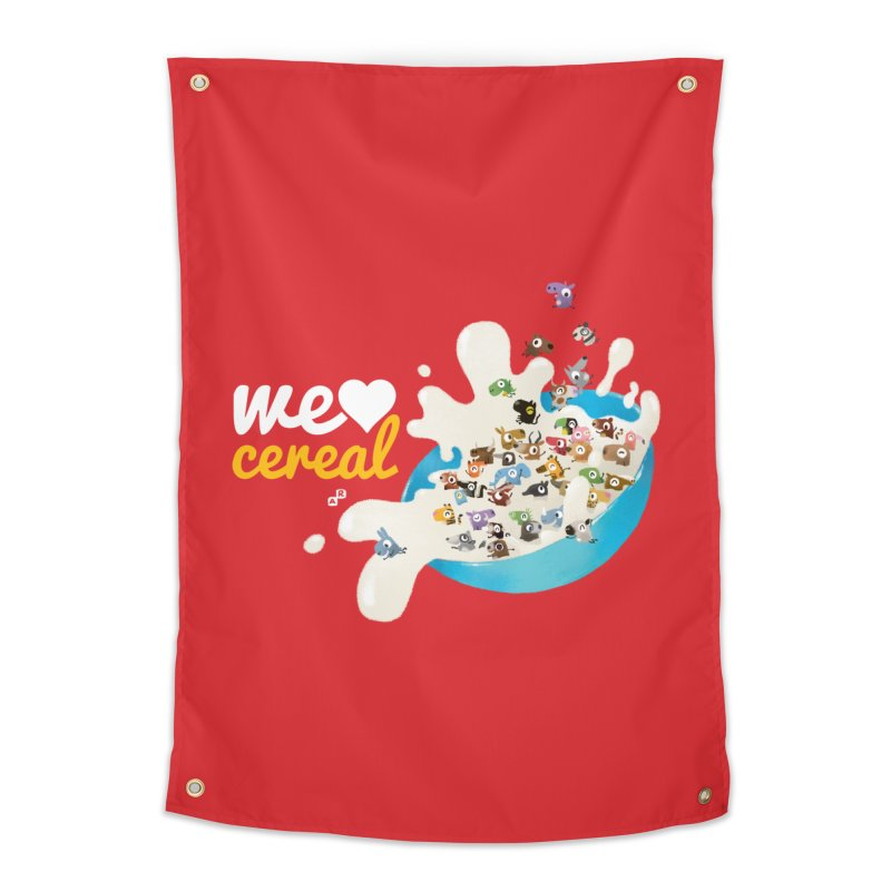We/Me Love Cereal Home Tapestry by aaronrandy's Artist Shop