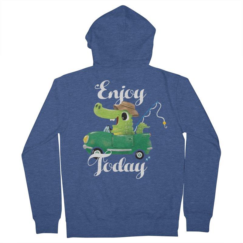 Enjoy Today Men's Zip-Up Hoody by aaronrandy's Artist Shop