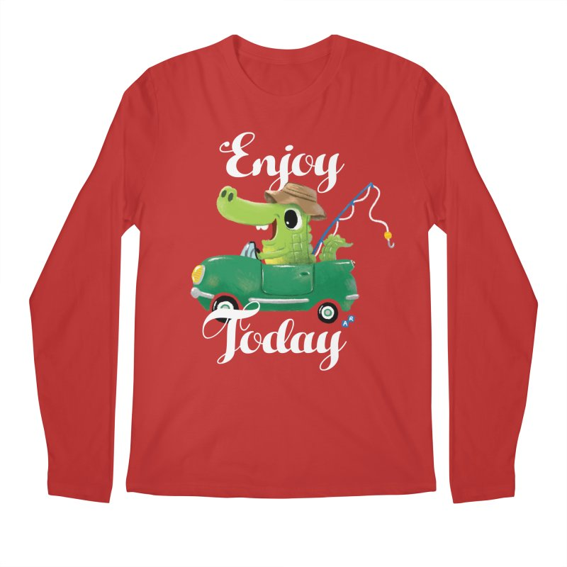 Enjoy Today Men's Longsleeve T-Shirt by aaronrandy's Artist Shop