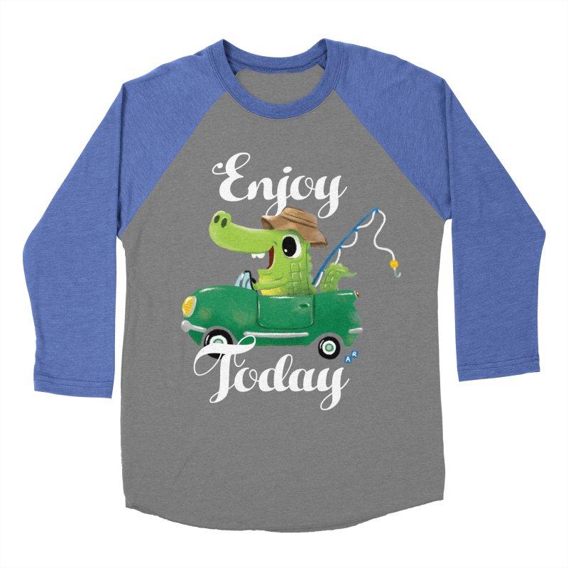 Enjoy Today Women's Baseball Triblend T-Shirt by aaronrandy's Artist Shop