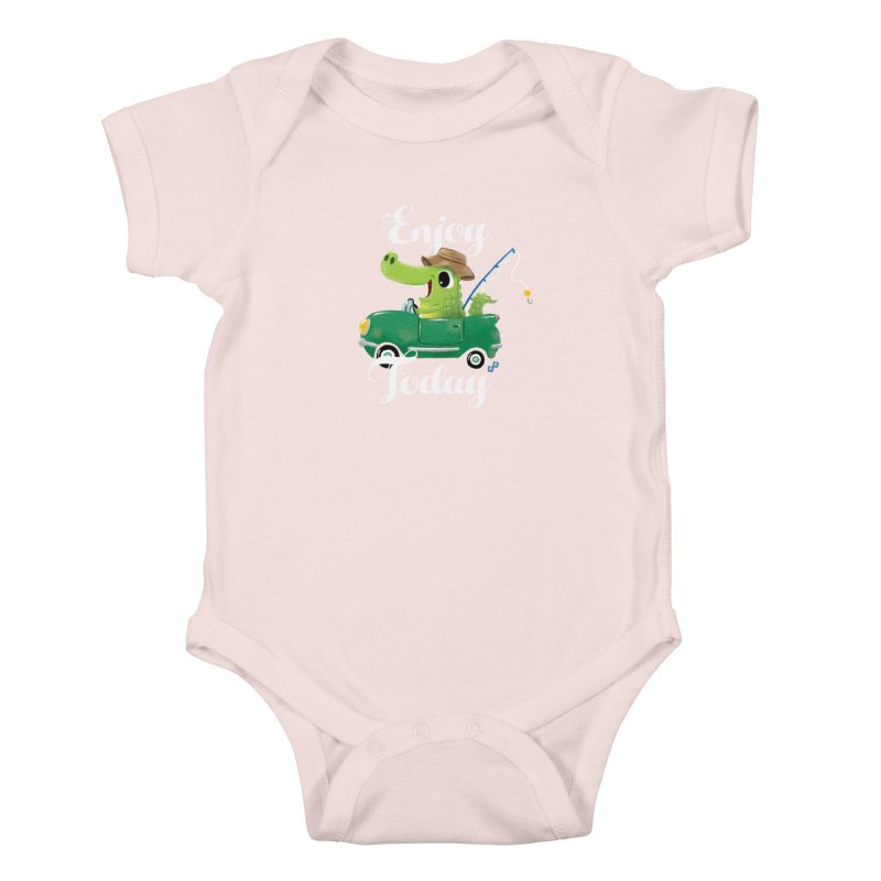 Enjoy Today Kids Baby Bodysuit by aaronrandy's Artist Shop