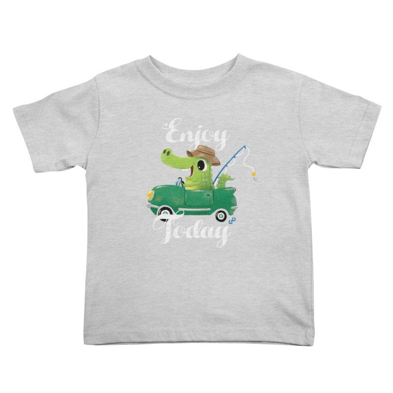 Enjoy Today Kids Toddler T-Shirt by aaronrandy's Artist Shop