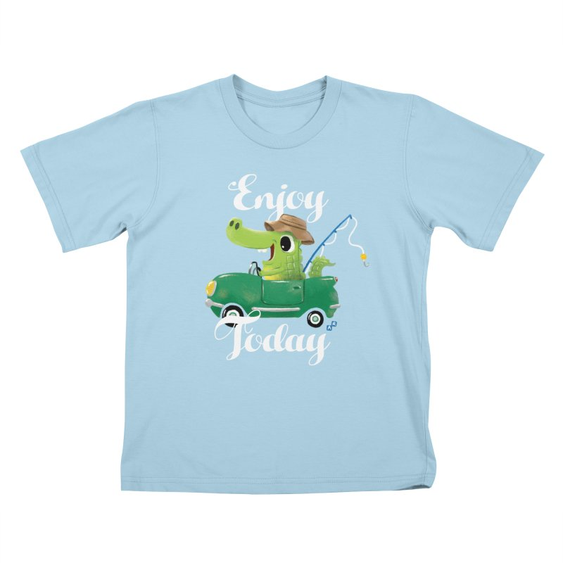 Enjoy Today Kids T-shirt by aaronrandy's Artist Shop