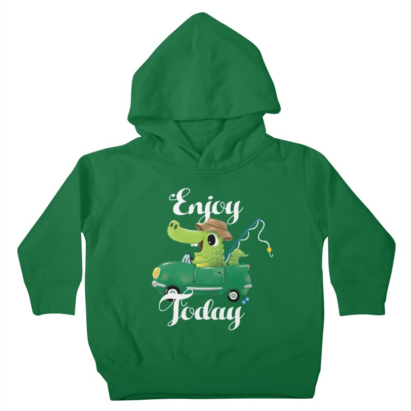 Enjoy Today Kids Toddler Pullover Hoody by aaronrandy's Artist Shop