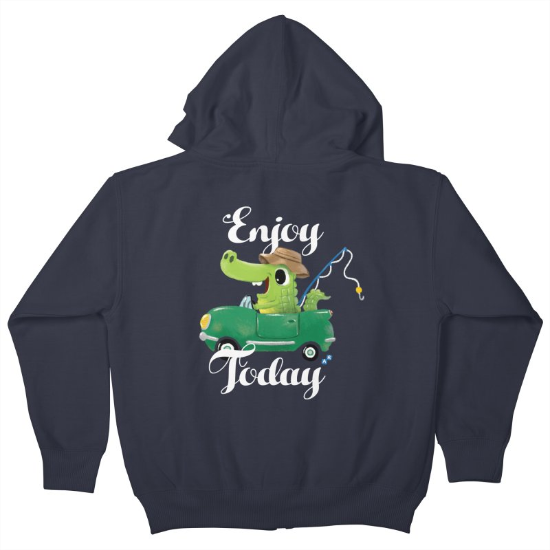 Enjoy Today Kids Zip-Up Hoody by aaronrandy's Artist Shop