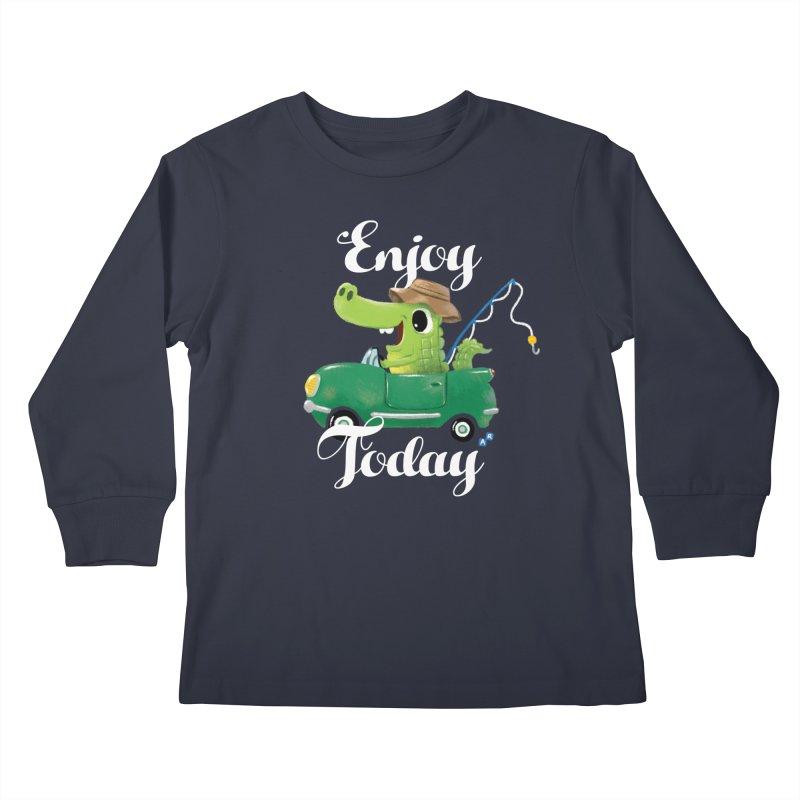 Enjoy Today Kids Longsleeve T-Shirt by aaronrandy's Artist Shop