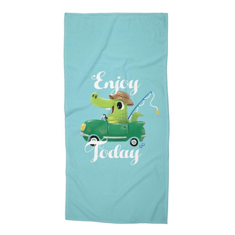 Enjoy Today Accessories Beach Towel by aaronrandy's Artist Shop
