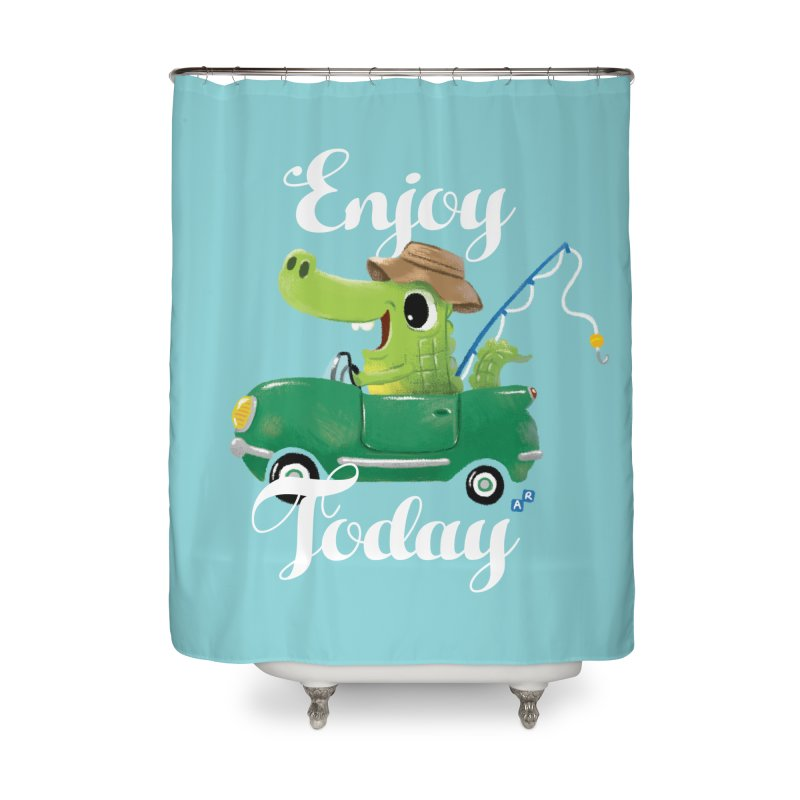Enjoy Today Home Shower Curtain by aaronrandy's Artist Shop