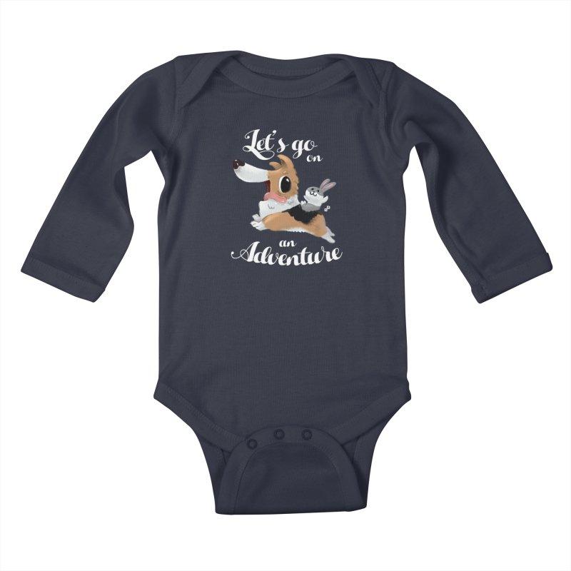 Let's Go on an Adventure! Kids Baby Longsleeve Bodysuit by aaronrandy's Artist Shop