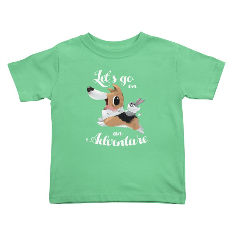 Let's Go on an Adventure! Kids Toddler T-Shirt by aaronrandy's Artist Shop