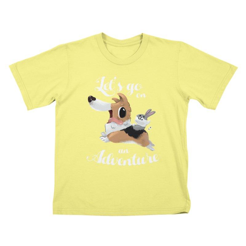 Let's Go on an Adventure! Kids T-shirt by aaronrandy's Artist Shop