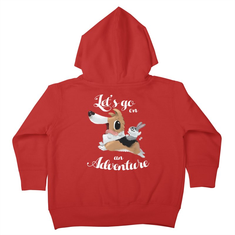 Let's Go on an Adventure! Kids Toddler Zip-Up Hoody by aaronrandy's Artist Shop