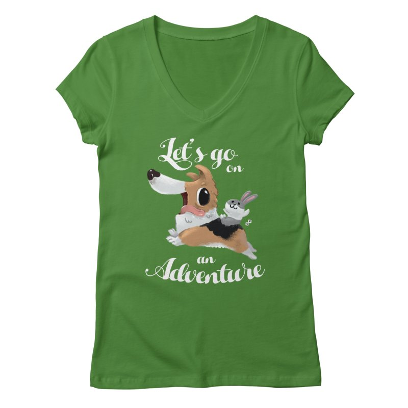 Let's Go on an Adventure! Women's V-Neck by aaronrandy's Artist Shop