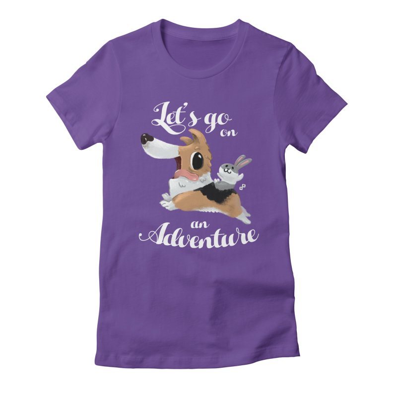 Let's Go on an Adventure! Women's Fitted T-Shirt by aaronrandy's Artist Shop