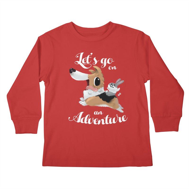 Let's Go on an Adventure! Kids Longsleeve T-Shirt by aaronrandy's Artist Shop