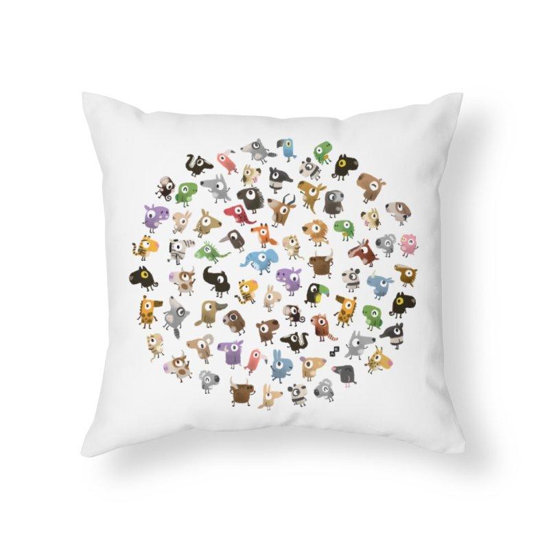 Awkward Meeting Home Throw Pillow by aaronrandy's Artist Shop
