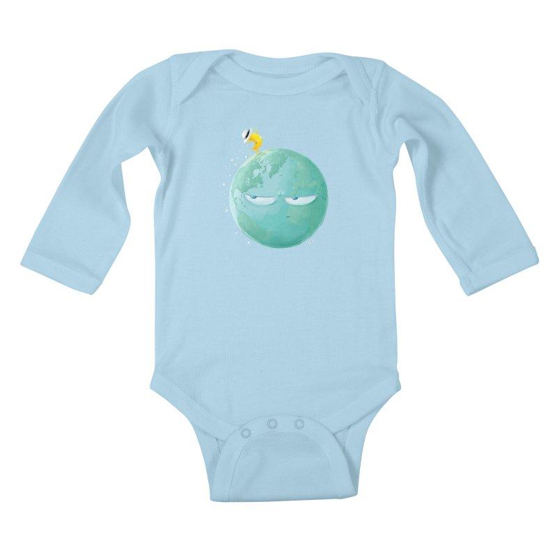 Moonwalk Kids Baby Longsleeve Bodysuit by aaronrandy's Artist Shop