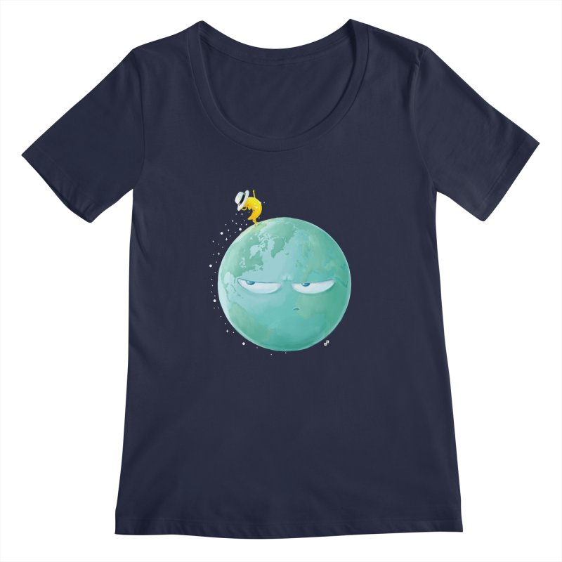 Moonwalk Women's Scoopneck by aaronrandy's Artist Shop