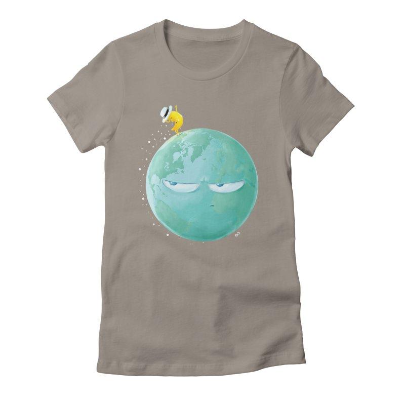 Moonwalk Women's Fitted T-Shirt by aaronrandy's Artist Shop