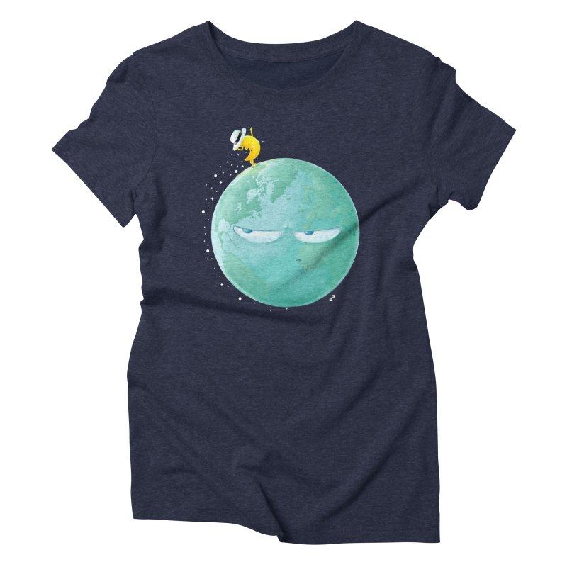 Moonwalk Women's Triblend T-shirt by aaronrandy's Artist Shop