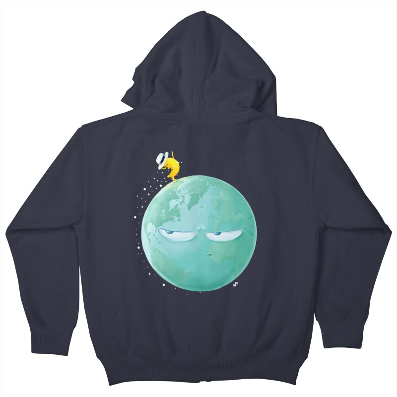 Moonwalk Kids Zip-Up Hoody by aaronrandy's Artist Shop