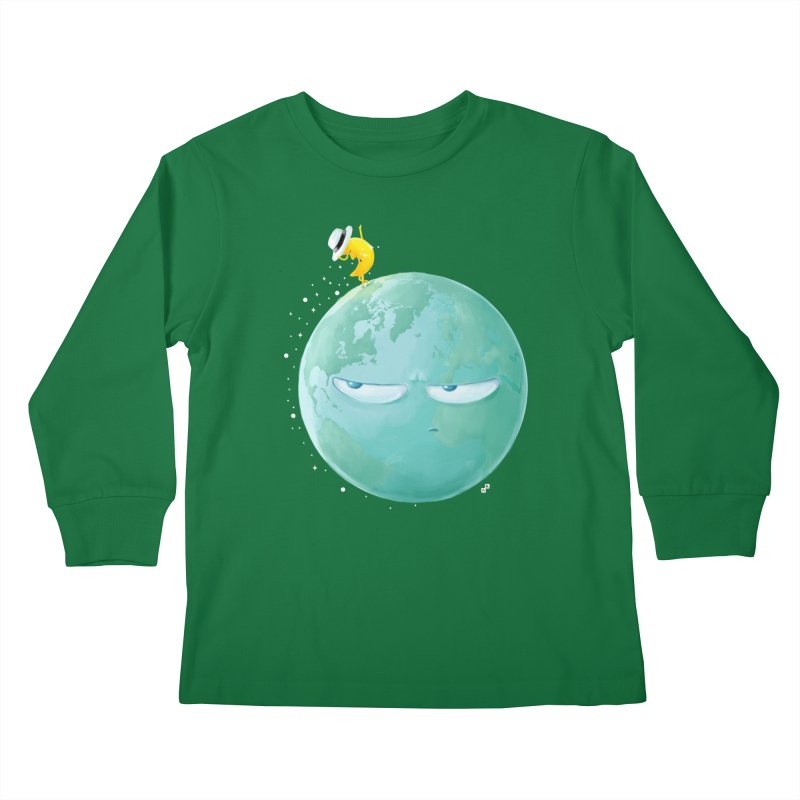 Moonwalk Kids Longsleeve T-Shirt by aaronrandy's Artist Shop
