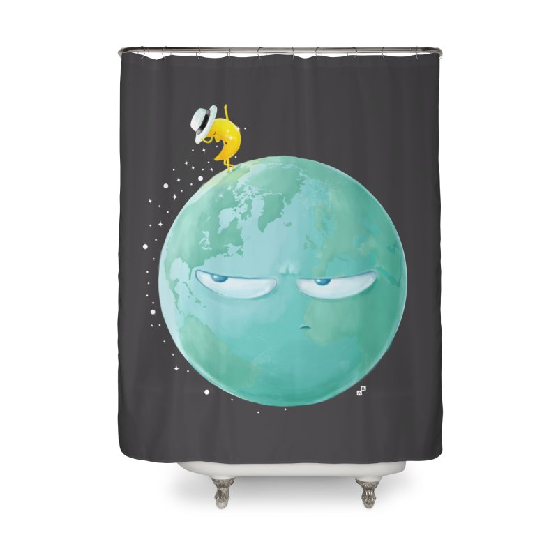 Moonwalk Home Shower Curtain by aaronrandy's Artist Shop
