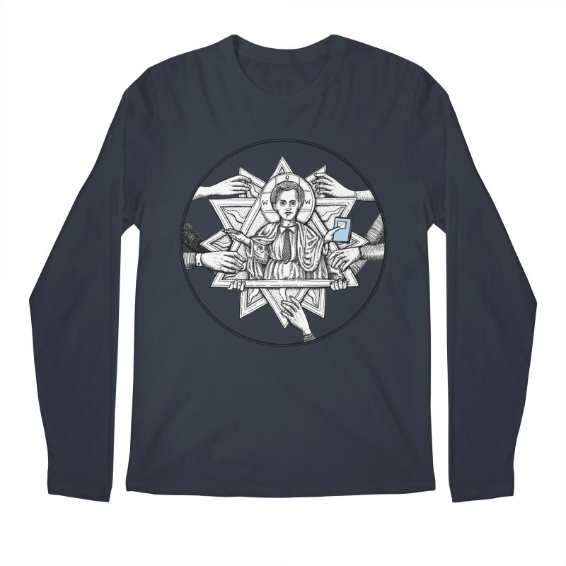 Bless & Grace Nerd Men's Longsleeve T-Shirt by abbey's Artist Shop