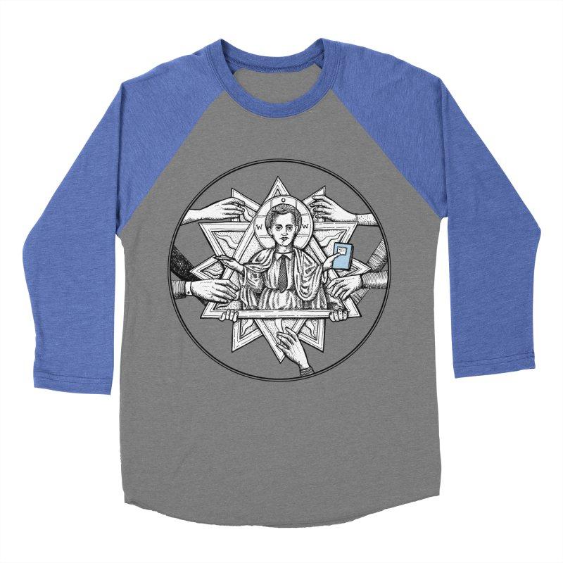 Bless & Grace Nerd Men's Baseball Triblend T-Shirt by abbey's Artist Shop