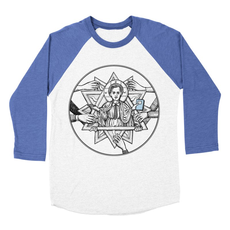 Bless & Grace Nerd Men's Baseball Triblend T-Shirt by abbey's Artist Shop