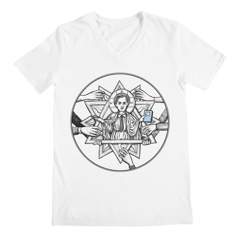 Bless & Grace Nerd Men's V-Neck by abbey's Artist Shop