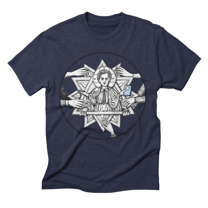 Bless & Grace Nerd Men's Triblend T-shirt by abbey's Artist Shop