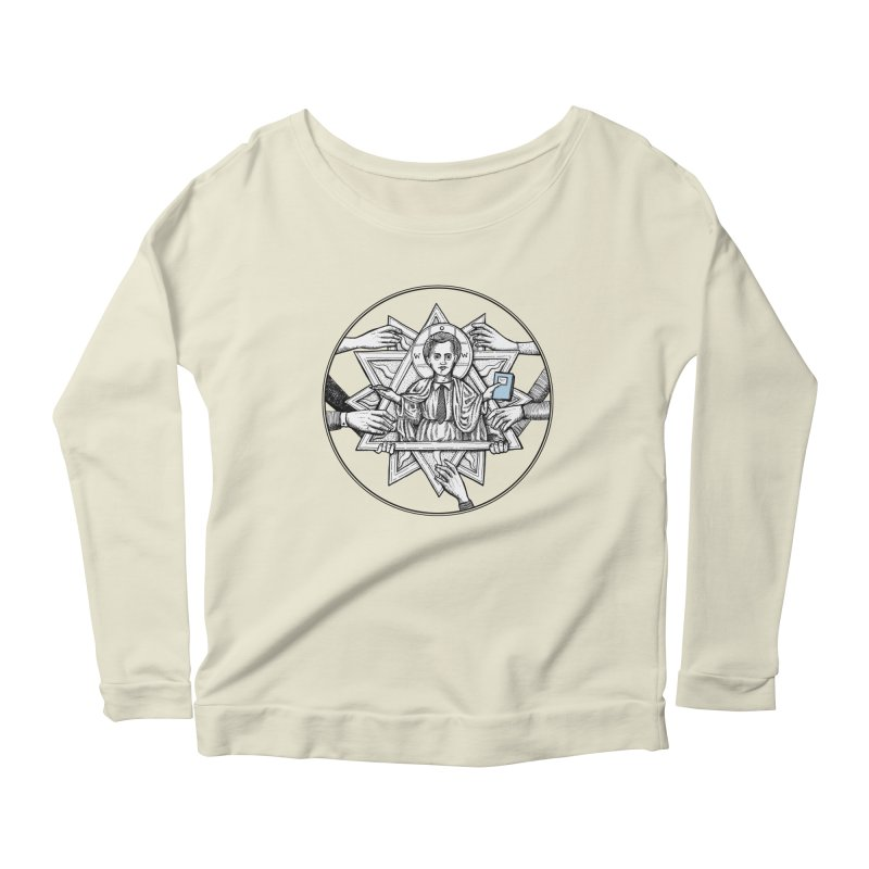 Bless & Grace Nerd Women's Longsleeve Scoopneck  by abbey's Artist Shop