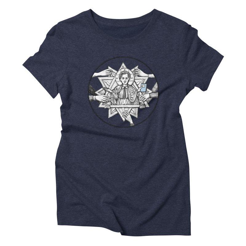 Bless & Grace Nerd Women's Triblend T-shirt by abbey's Artist Shop