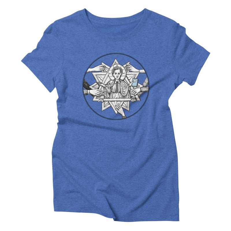 Bless & Grace Nerd Women's Triblend T-Shirt by abbey's Artist Shop