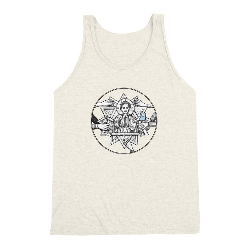 Bless & Grace Nerd Men's Triblend Tank by abbey's Artist Shop