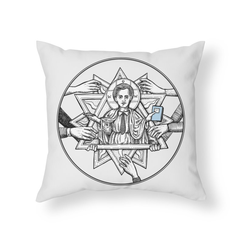 Bless & Grace Nerd Home Throw Pillow by abbey's Artist Shop