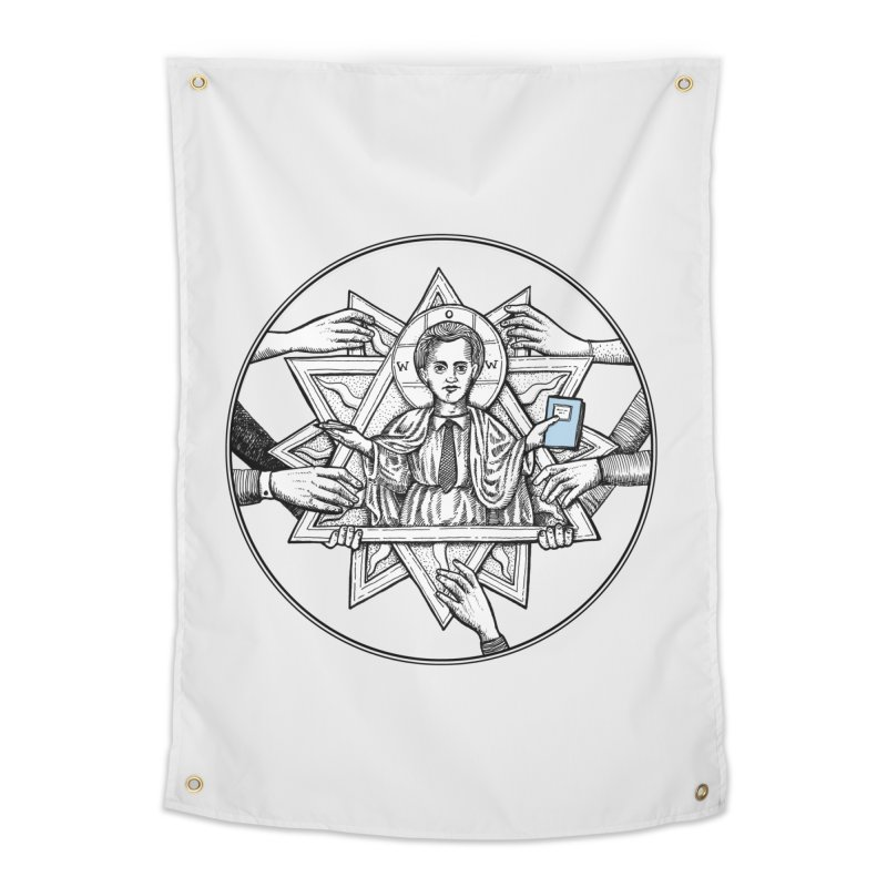 Bless & Grace Nerd Home Tapestry by abbey's Artist Shop