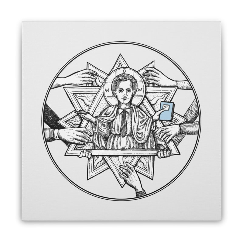 Bless & Grace Nerd Home Stretched Canvas by abbey's Artist Shop