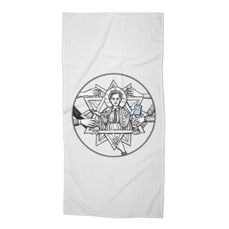 Bless & Grace Nerd Accessories Beach Towel by abbey's Artist Shop