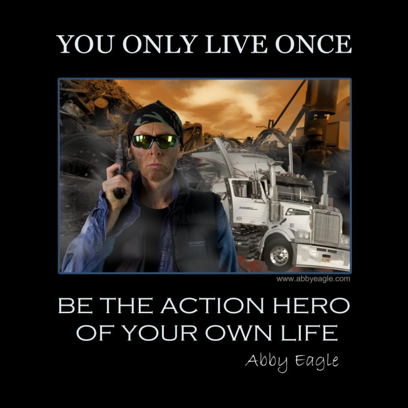 Action Hero t-shirt - Black Men's V-Neck by Abby Eagle